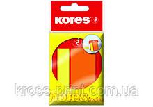 Стикеры-закладки Kores, 45х2 и 45х25, пластиковые