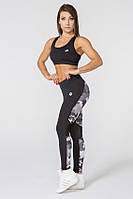 Женский спортивный костюм для фитнеса Radical Fierce S Черно-серый (r0181)