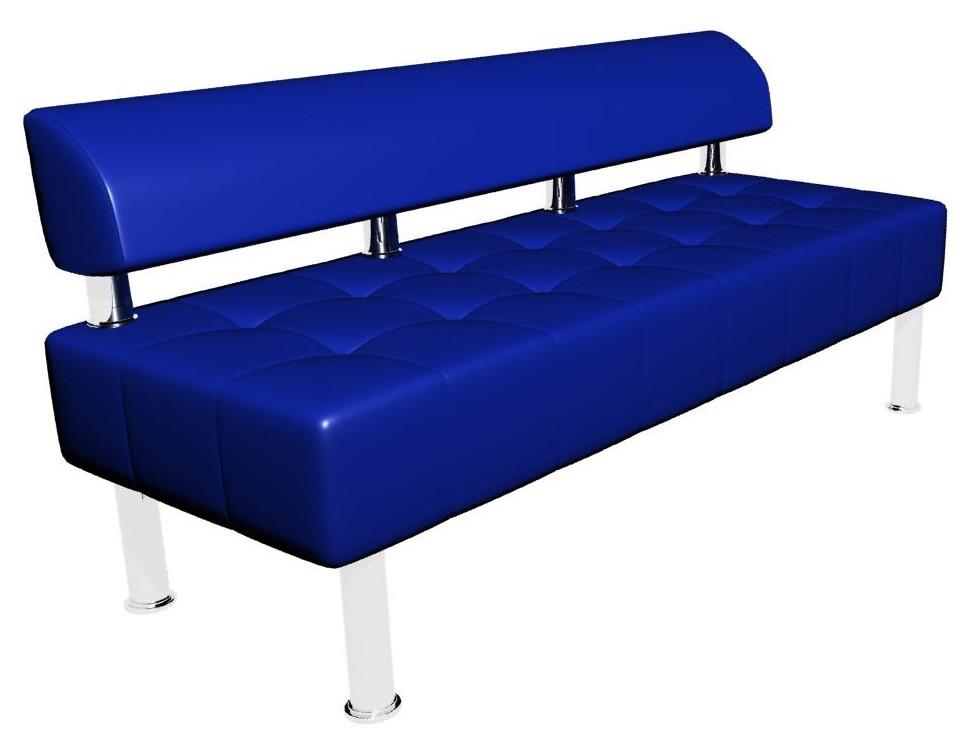 Диван-офис Тонус без подлокотников Sentenzo 1600x600x700 мм Синий (2366245821412)