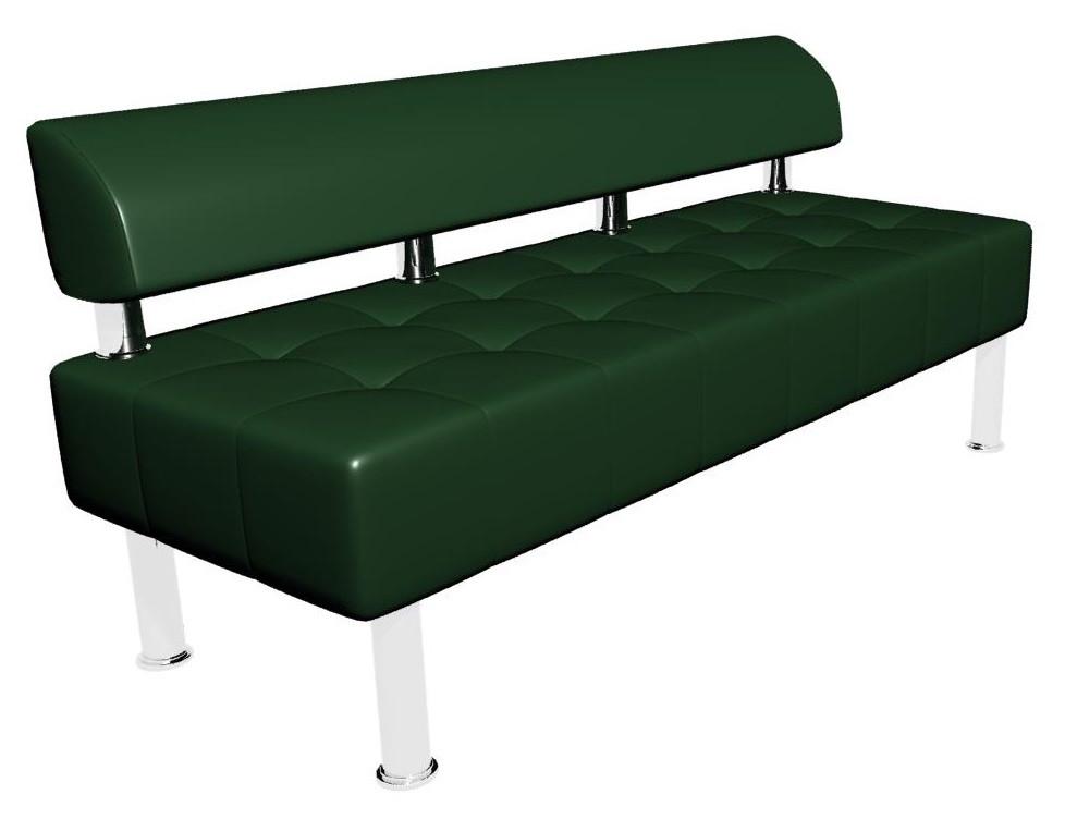 Диван-офис Тонус без подлокотников Sentenzo 1600x600x700 мм Темно-зеленый (236624582144)