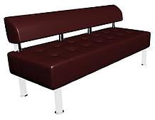 Диван-офис Тонус без подлокотников Sentenzo 1600x600x700 мм Темно-вишневый (236624582143)
