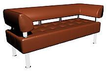 Диван-офис Тонус без подлокотников Sentenzo 1600x600x700 мм Светло-коричневый (2374626721400)