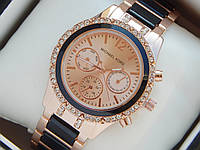 Женские наручные часы копия Michael Kors, золото, с рабочими дополнительными циферблатами, премиум, фото 1