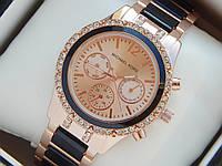 Жіночі наручні годинники копія Michael Kors, золото, з робочими додатковими циферблатами, преміум, фото 1