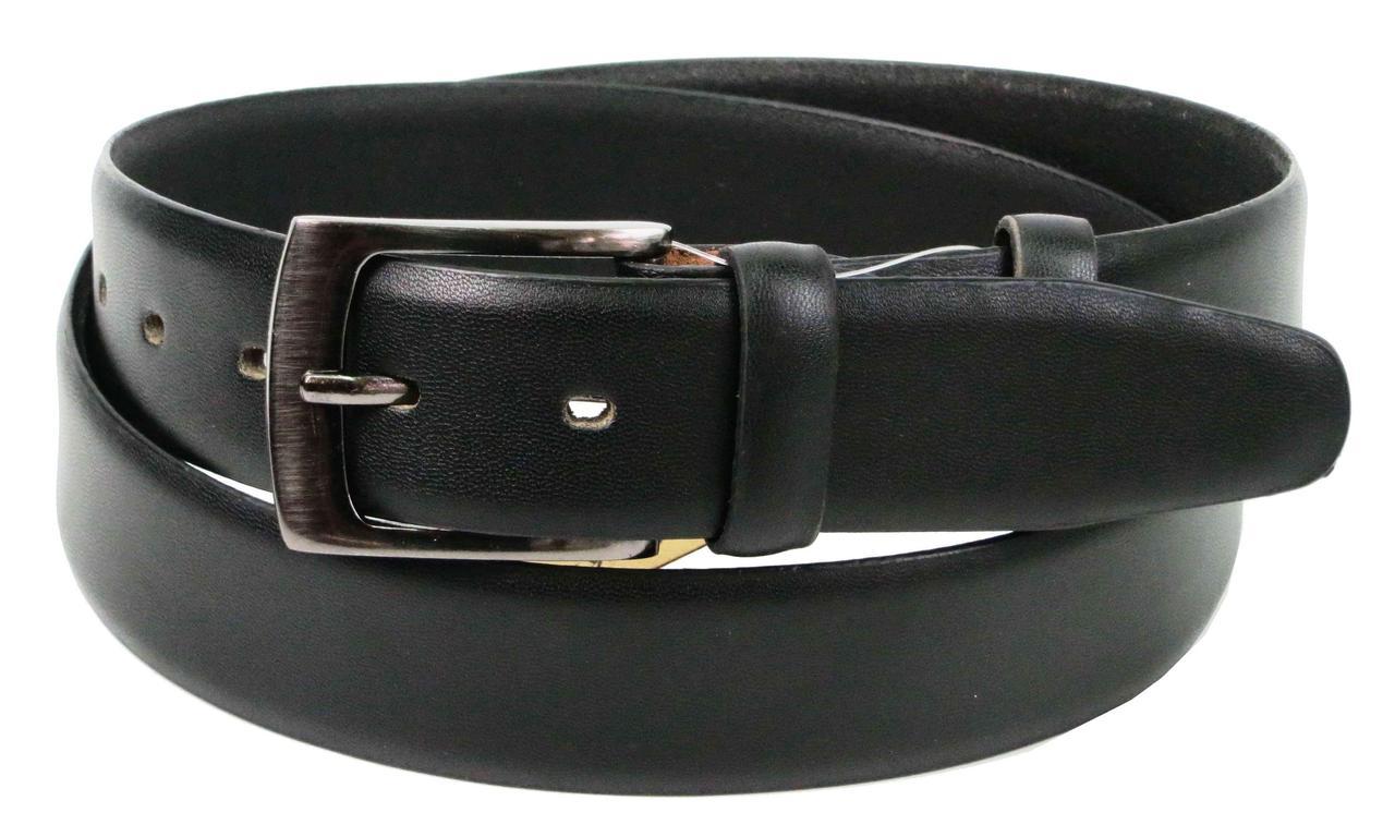 Ремень мужской из кожи под брюки Always Wild 3.4 см Черный (BOM01TX)