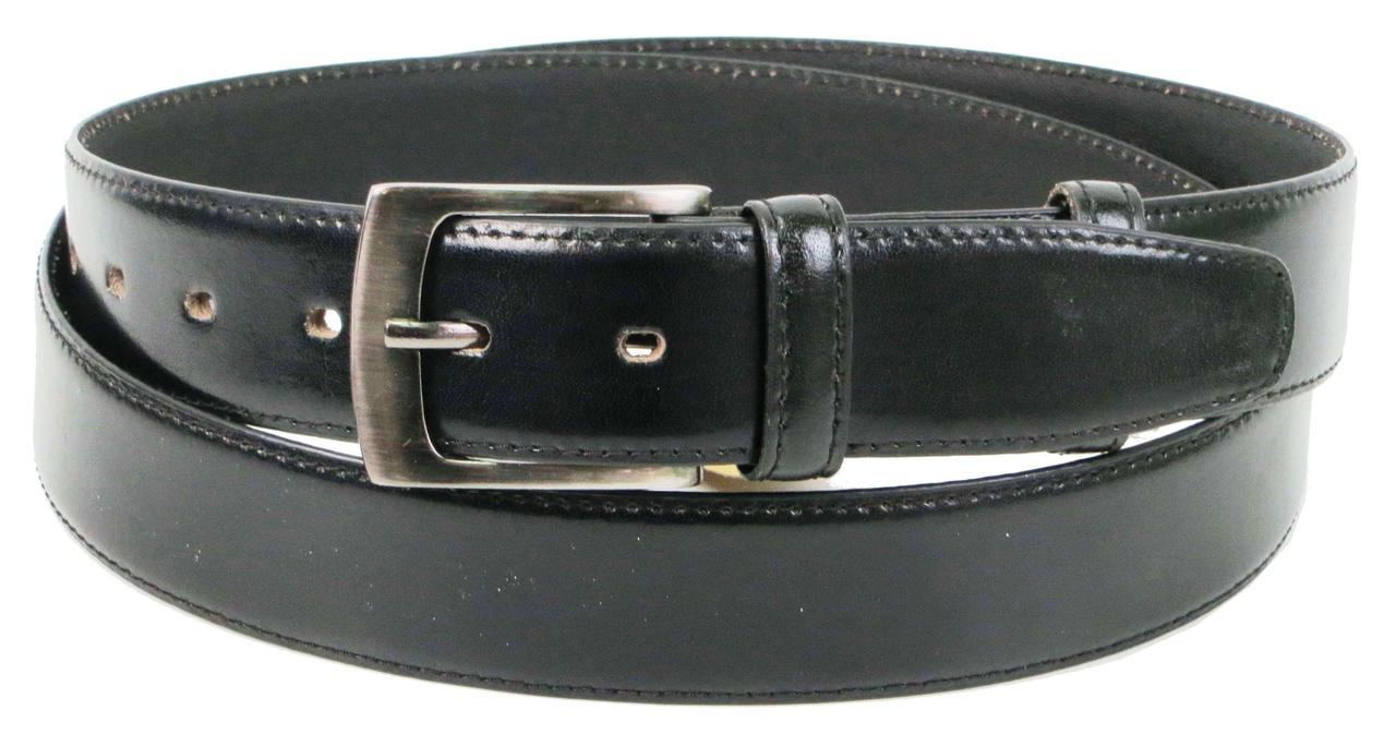 Ремінь чоловічий зі шкіри під штани Always Wild 3.4 см Чорний (PWN01ART)