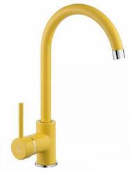 Смеситель однорычажный  для кухни Deante Milin BEU Y62M желтый