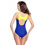 Жіночий цільний купальник Aqua Speed Cora 38 Синьо-жовтий (aqs063), фото 3