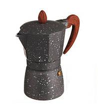 Гейзерна кавоварка А-Плюс 2086 9 чашок 0.39 л Сталева
