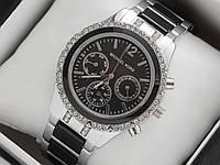 Женские наручные часы копия Michael Kors, серебро, с рабочими дополнительными циферблатами, премиум, фото 1