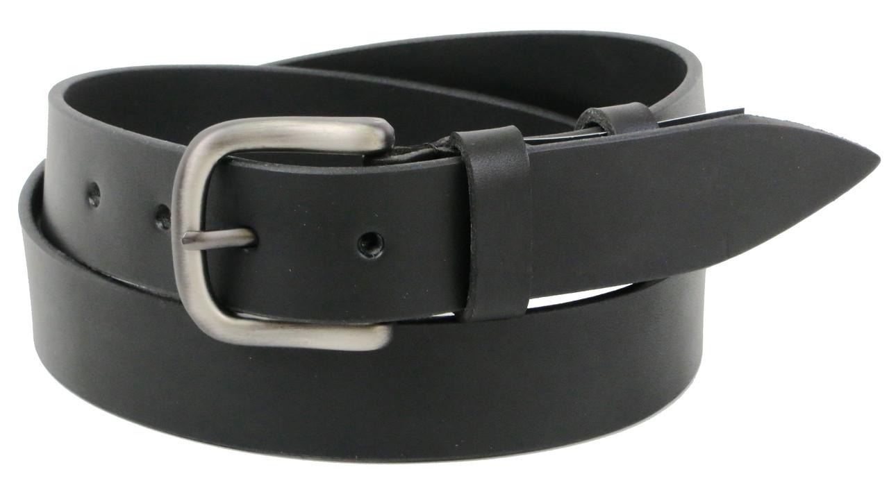 Ремень мужской Skipper кожаный ширина 3.8 см Черный (1269-38)