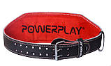 Пояс для важкої атлетики PowerPlay 5053 S Чорно-червоний (PP_5053_S_Black), фото 2