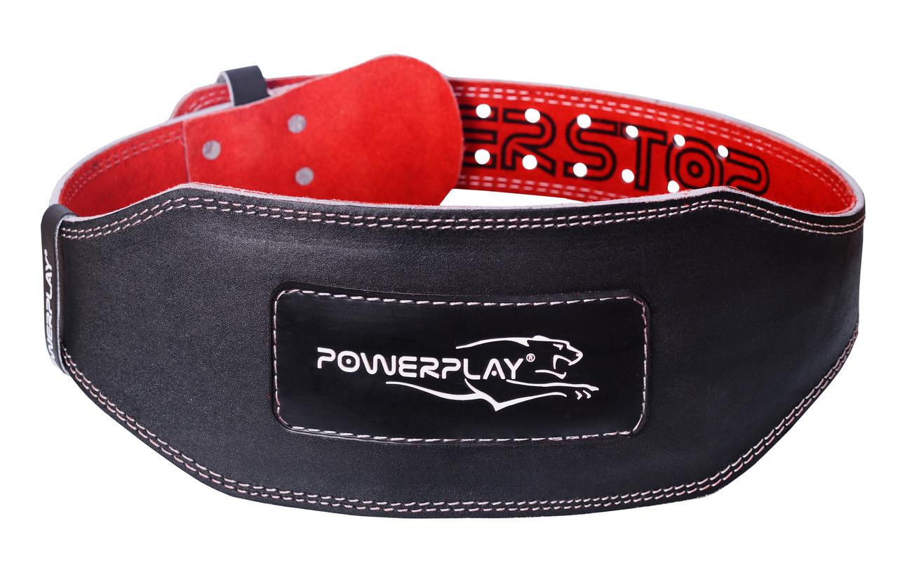 Пояс для важкої атлетики PowerPlay 5053 XS Чорно-червоний (PP_5053_XS_Black)