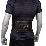 Пояс для важкої атлетики PowerPlay 5053 XS Чорно-червоний (PP_5053_XS_Black), фото 6
