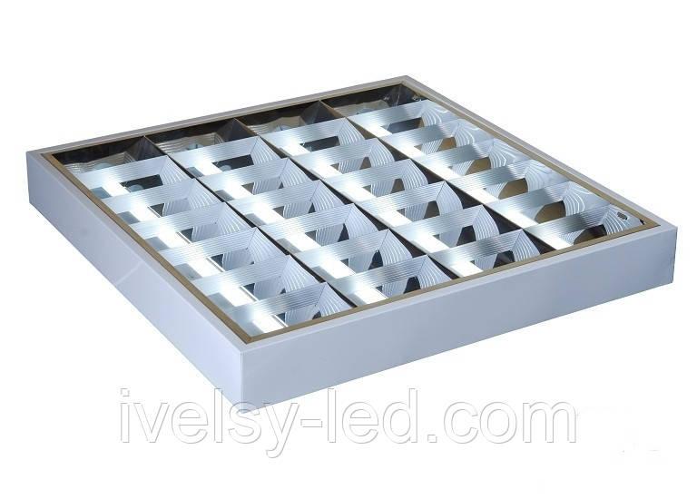 Світильник растровий накладної LED 6400K (595*595), Евросвет