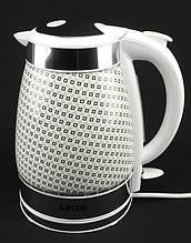 Електрочайник керамічний дисковий А-Плюс 2147 2 л Білий (220002)