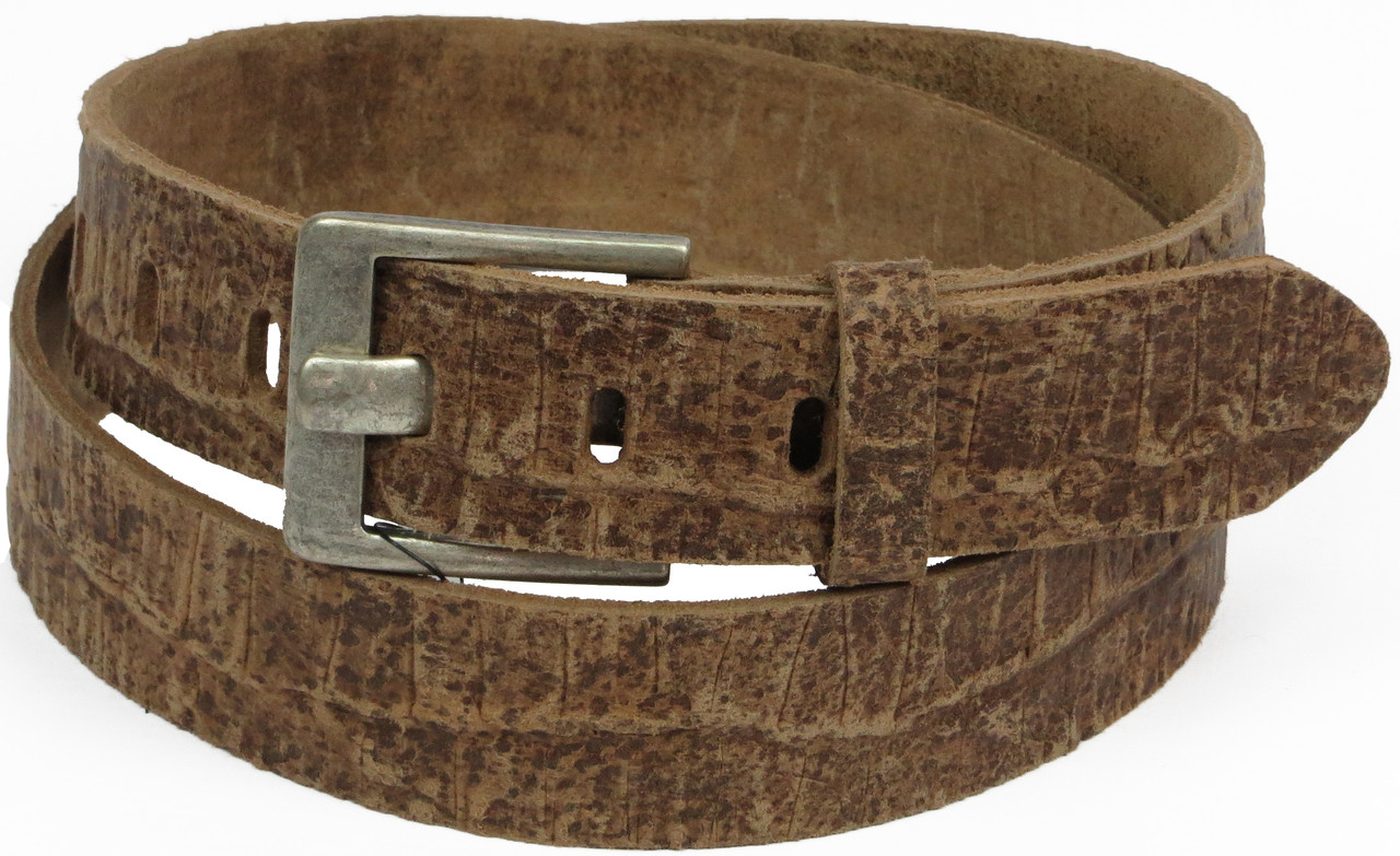 Мужской ремень под брюки Vanzetti кожаный 117 см Коричневый (100053)