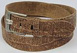 Мужской ремень под брюки Vanzetti кожаный 117 см Коричневый (100053), фото 2