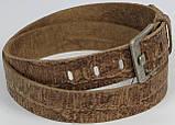 Мужской ремень под брюки Vanzetti кожаный 117 см Коричневый (100053), фото 3