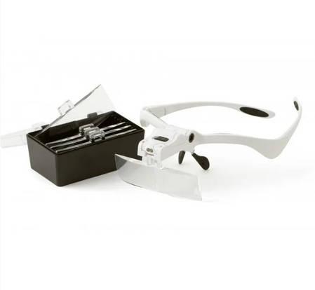 Бинокулярные очки со светодиодной подсветкой 9892BР увеличение: 1.0x1.5x2.0x2.5x3.5х, фото 2
