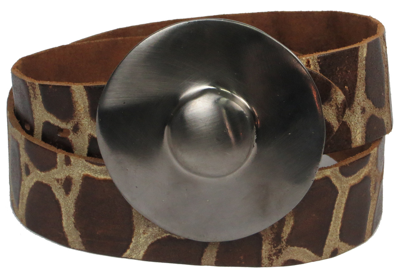 Ремень женский Vanzetti кожаный 106 см Коричневый (100017)