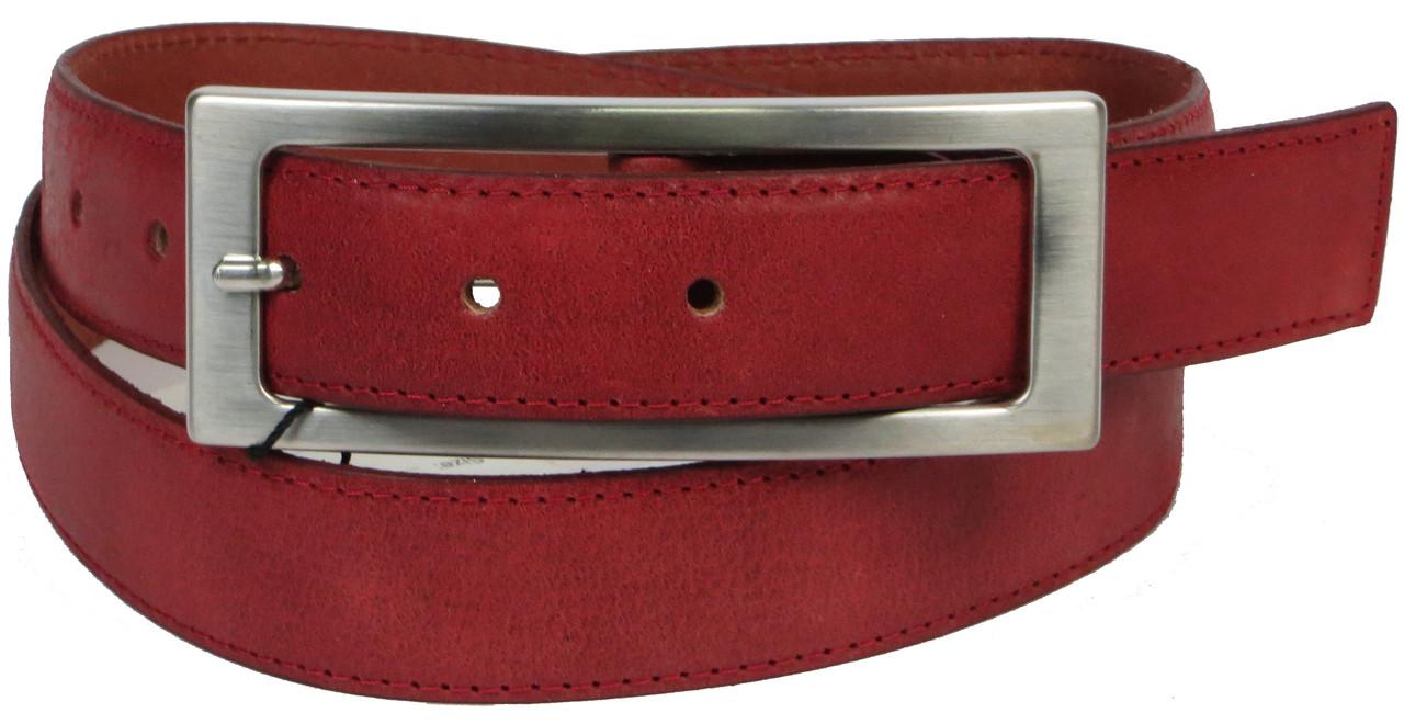 Жіночий ремінь Vanzetti шкіряний 109 см Червоний (100072)