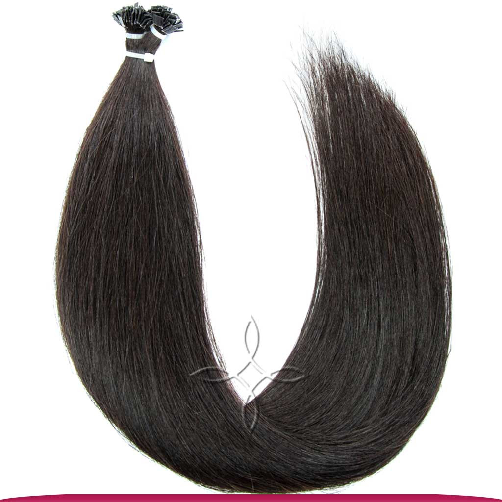 Натуральные Европейские Волосы на Капсулах 50 см 100 грамм, Черный №1В