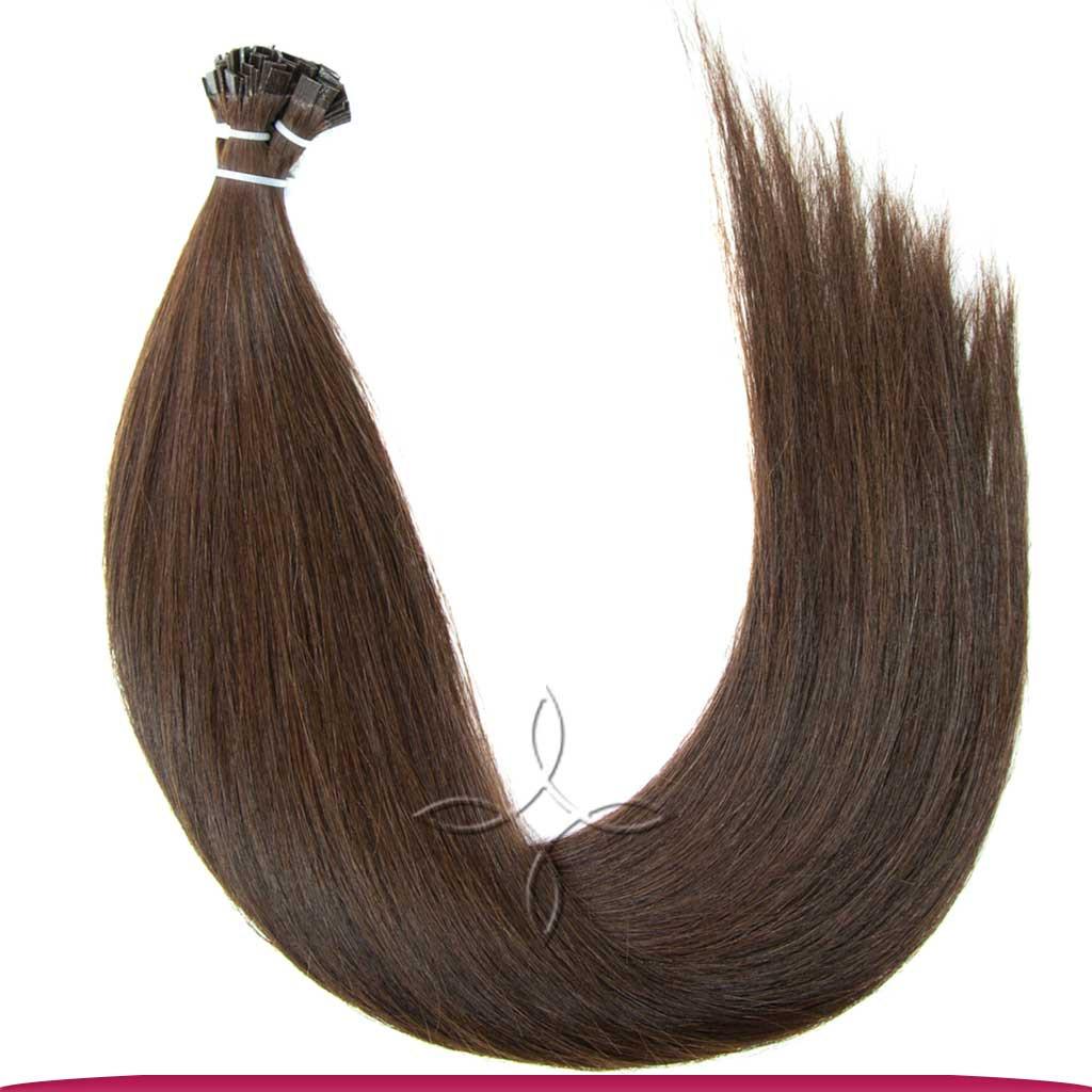 Натуральные Европейские Волосы на Капсулах 50 см 100 грамм, Шоколад №03