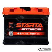 Аккумулятор Starta Strong 62 А.З.Е. с круглыми клеммами | R, EN600 (Европа)