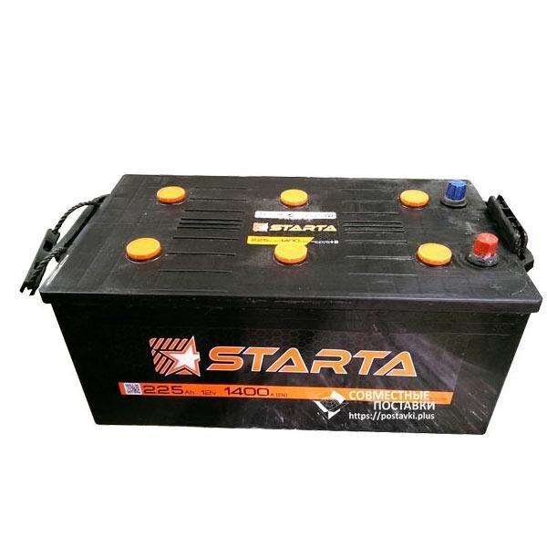Акумулятор Starta 225 А. З. Е. з круглими клемами | R, EN1400 (Європа)