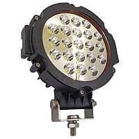 63W / 60 (21 x 3W / широкий промінь, круглий корпус) 4500 LM LED кругла фара 63W, 21 лампа, 10-30V, фото 1
