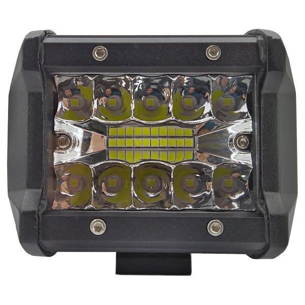 60W (20 x 3W / гибридный луч, прямоугольный корпус) 3500 LM LED фара рабочая 60W, 20 ламп, 10-30V, 6000K