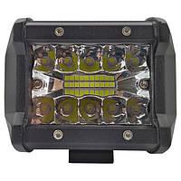 60W (20 x 3W / гибридный луч, прямоугольный корпус) 3500 LM LED фара рабочая 60W, 20 ламп, 10-30V, 6000K, фото 1