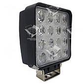 48W / 60 (16 x 3W / широкий луч, квадратный корпус) 3500 LM LED фара рабочая квадратная 48W, 16 ламп, 10-30V