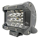 36W / 60 (12 x 3W / широкий луч, прямоугольный корпус) 2200 LM LED фара рабочая 36W, 12 ламп, 10-30V, 6000K