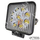 27W / 60 (9 x 3W / широкий луч, квадратный корпус) 2200 LM LED Фара рабочая L0077 (JFD-1040) (ПОЛЬША)