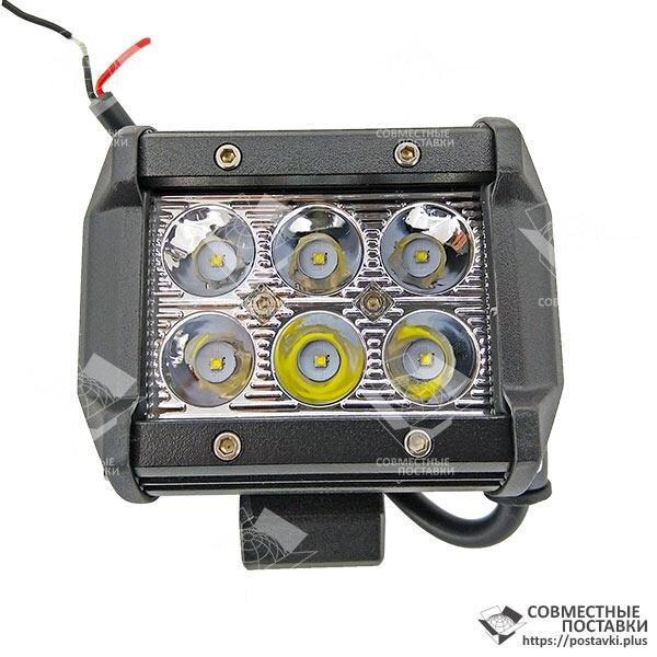 18W / 30 (6 x 3W / вузький промінь, прямокутний корпус) 1800 LM LED Фара робоча LB0031 (Польща) 18 Ват