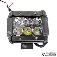 18W / 30 (6 x 3W / вузький промінь, прямокутний корпус) 1800 LM LED Фара робоча LB0031 (Польща) 18 Ват, фото 1