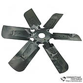 Крыльчатка вентилятора ЯМЗ-236, ЯМЗ-238 238Н-1308012 (металл, d=560 мм, 6 лопастей)