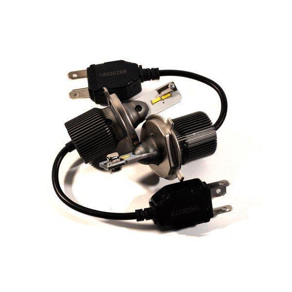 Комплект LED ламп HeadLight F8L H4 (P43t) 30W 12V 3720Lm з пасивним охолодженням