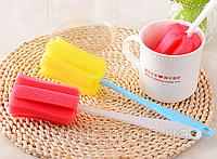 Губка з ручкою для миття стаканів, кухлів і