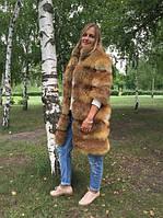 Шуба из лисы модного кроя в наличии и под заказ пошив по вашим меркам. Длина 90 см