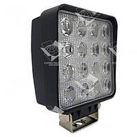 Додаткова світлодіодна фара точкового (дальнього) світла 48W/30 квадратна 10-30V, фото 1