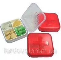 Таблетница контейнер, 4 секції. Міні-аптечка