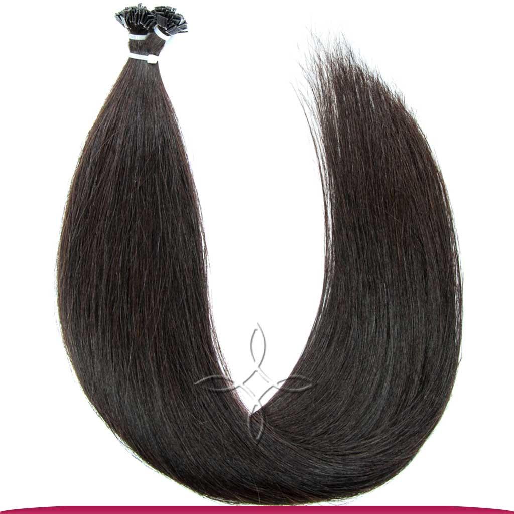 Натуральные Европейские Волосы на Капсулах 60 см 100 грамм, Черный №1В