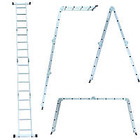 Лестница многоцелевая 4×4 (алюминиевая) FLORA (5031324), фото 1