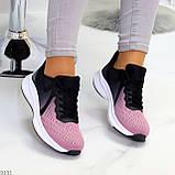 Яркие люксовые текстильные сиреневые омбре кроссовки мультиколор, фото 9