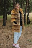 Модная шубка из лисички рукав 3/4 длина 80 см, фото 1