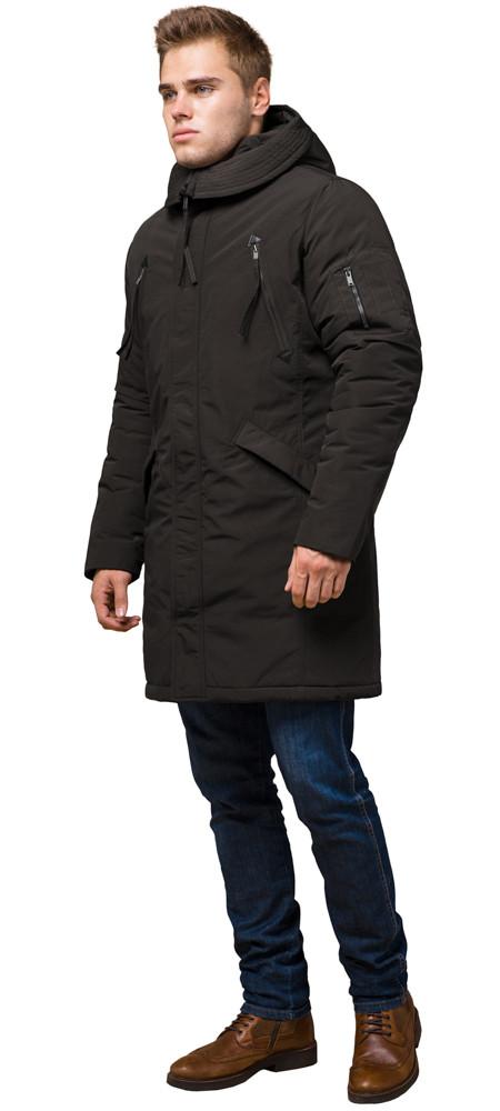 Парку коричнева чоловіча зимова фірмова модель 23675