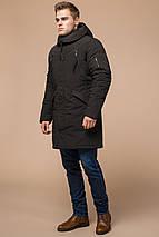 Парку коричнева чоловіча зимова фірмова модель 23675, фото 2